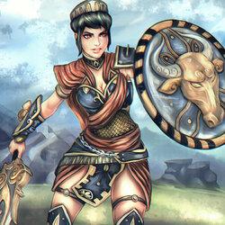 Пазл онлайн: Беллона, богиня войны