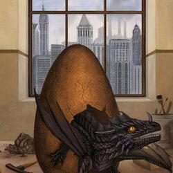 Пазл онлайн: Вылупление чёрного дракона