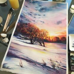 Пазл онлайн: Зима и солнце