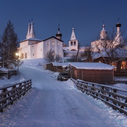 Пазл онлайн: Зимний вечер в Ферапонтово