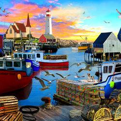 Пазл онлайн: Рыбацкая бухта