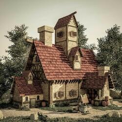Пазл онлайн: Дом