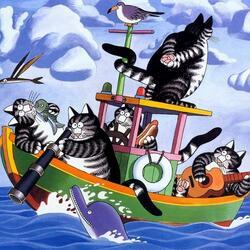 Пазл онлайн: Рыболовное судно