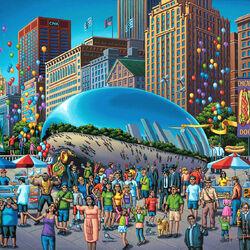 Пазл онлайн: Чикагский боб