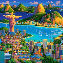 Пазл онлайн: Рио-де-Жанейро