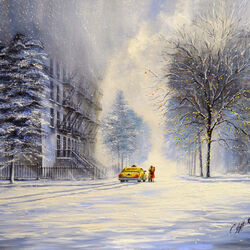 Пазл онлайн: В эту холодную Рождественскую ночь