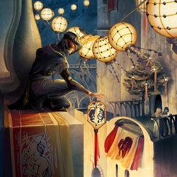 Пазл онлайн: Фестиваль ночных огней