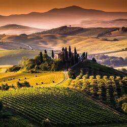 Пазл онлайн: Прекрасная Тоскана