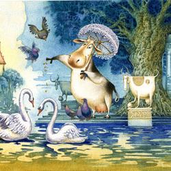 Пазл онлайн: И лебедей любит