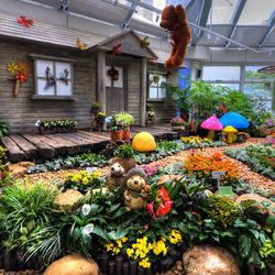 Пазл онлайн: Внутренний сад