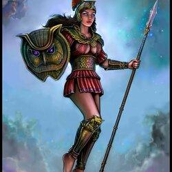 Пазл онлайн: Богиня мудрости и войны
