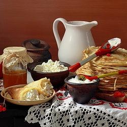 Пазл онлайн: Завтрак с блинами