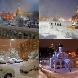 Пазл онлайн: Заснеженная Москва  - 2018