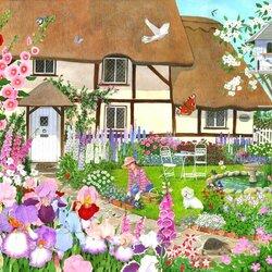 Пазл онлайн: Уход за садом