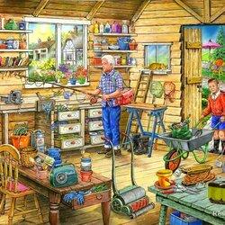 Пазл онлайн: Дедушкин сарай