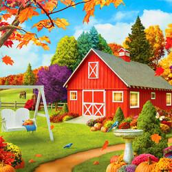 Пазл онлайн: Осенним днем