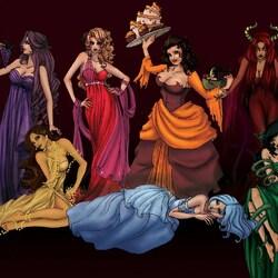 Пазл онлайн: Семь смертных грехов