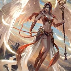 Пазл онлайн: Воинственный ангел