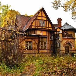 Пазл онлайн: Осенний домик