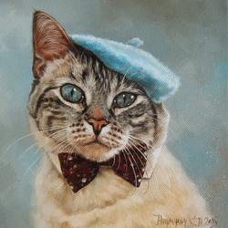 Пазл онлайн: Кот в берете