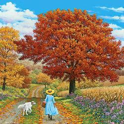 Пазл онлайн: Осенняя прогулка