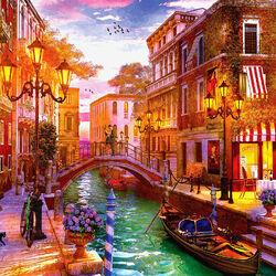 Пазл онлайн: Закат в Венеции