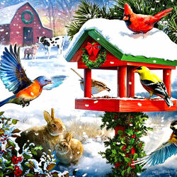 Пазл онлайн: Праздничный пир
