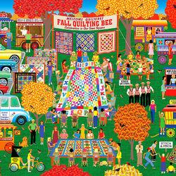 Пазл онлайн: Осенняя ярмарка квилта