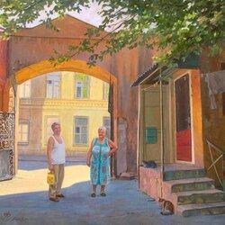 Пазл онлайн: Одесский дворик