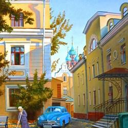 Пазл онлайн: Утро в Кадашевском переулке
