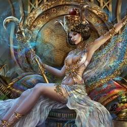 Пазл онлайн: Золотая королева