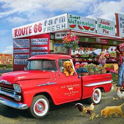 Пазл онлайн: Продуктовый грузовичок