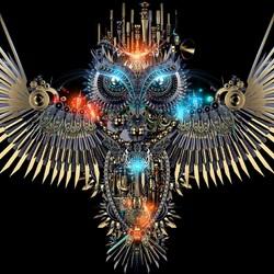 Пазл онлайн: Фантастическая сова