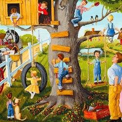 Пазл онлайн: Домик на дереве