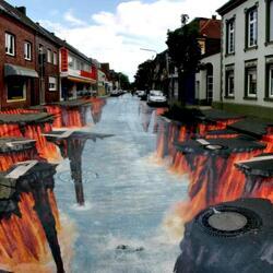 Пазл онлайн: Огненная река
