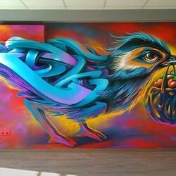 Пазл онлайн: Потрясающее граффити