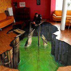 Пазл онлайн: Кормление крокодилов