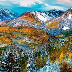 Пазл онлайн: Голубые вершины