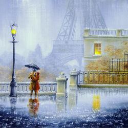 Пазл онлайн: Париж всегда с нами