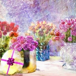 Пазл онлайн: Праздник марта