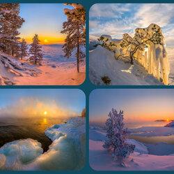 Пазл онлайн: Зимнее Ладожское озеро