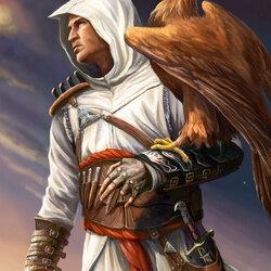 Пазл онлайн: Альтаир ибн Ла-Ахад и беркут