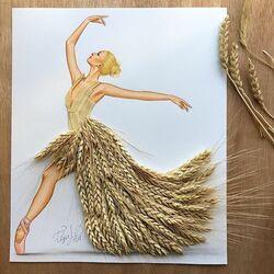 Пазл онлайн: Леди Пшеница