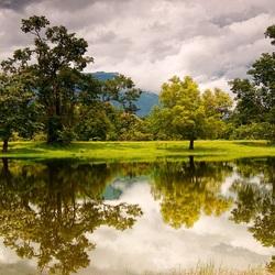 Пазл онлайн: Отражение в воде