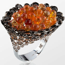 Пазл онлайн: Кольцо с сапфирами и бриллиантами