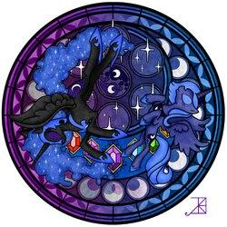 Пазл онлайн: Принцесса Луна и Найтмэр Мун
