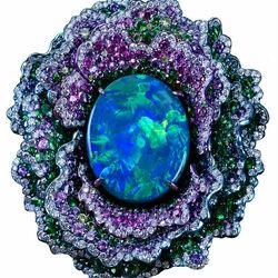 Пазл онлайн: Кольцо Fleurs d'Opales