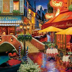 Пазл онлайн: Венецианские кафе