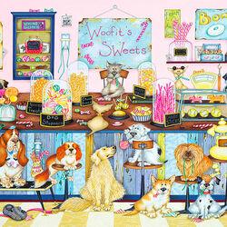 Пазл онлайн: Собачья кондитерская