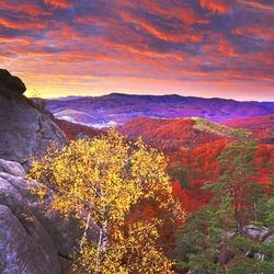 Пазл онлайн: Закат в горах